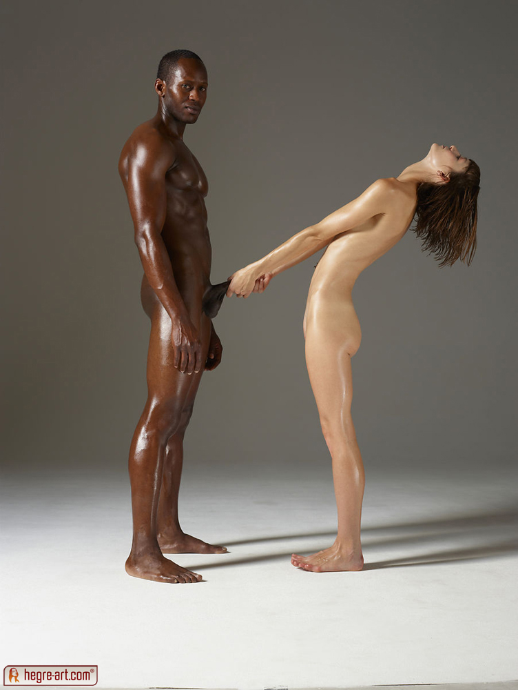 Interracial nude art couples sex