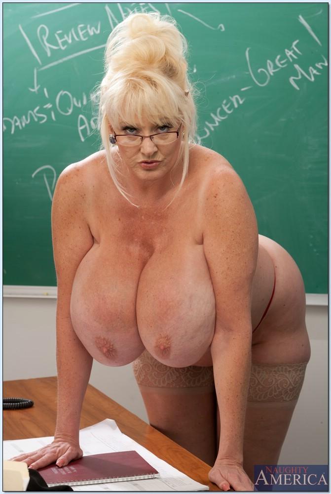 Mature blonde big tits teacher