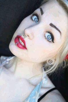 Nude girls with septum piercings