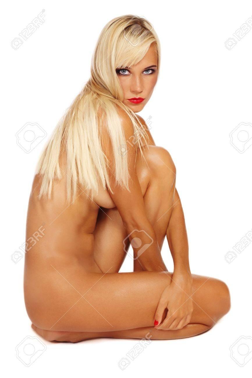 Beautiful slim blonde nude