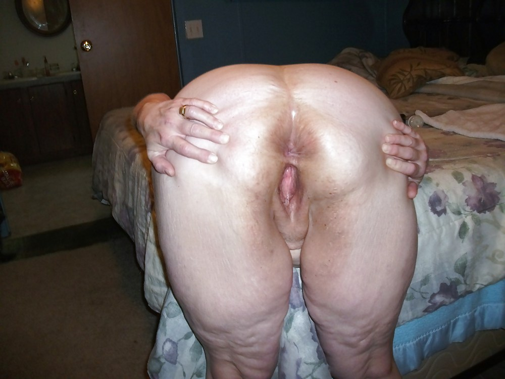 Mature wife spreading ass cheeks