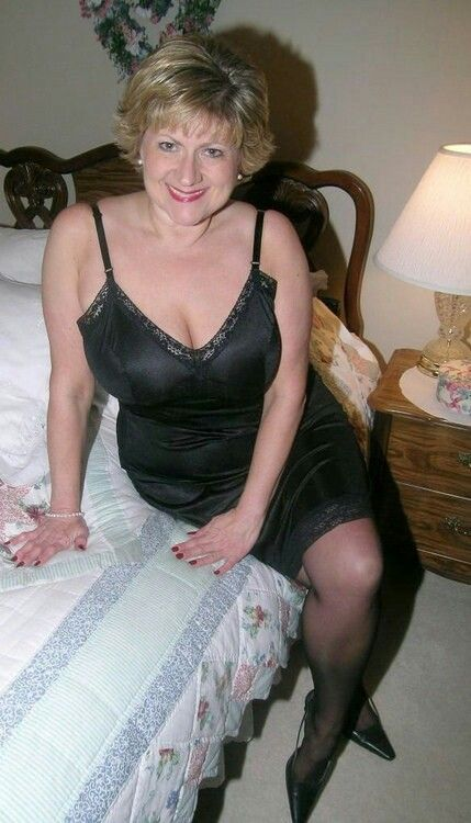 Mature women modeling panties