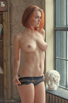 Short red hair girl nude