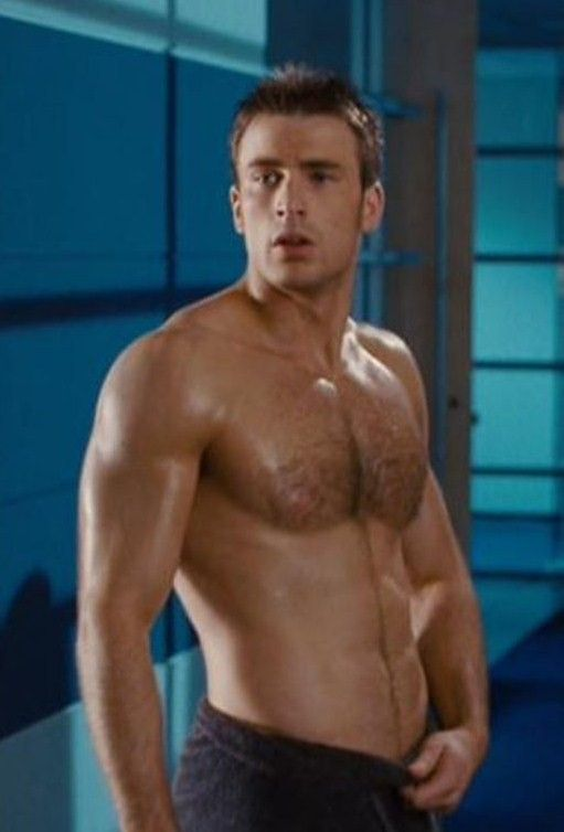 Captain america chris evans shirtless