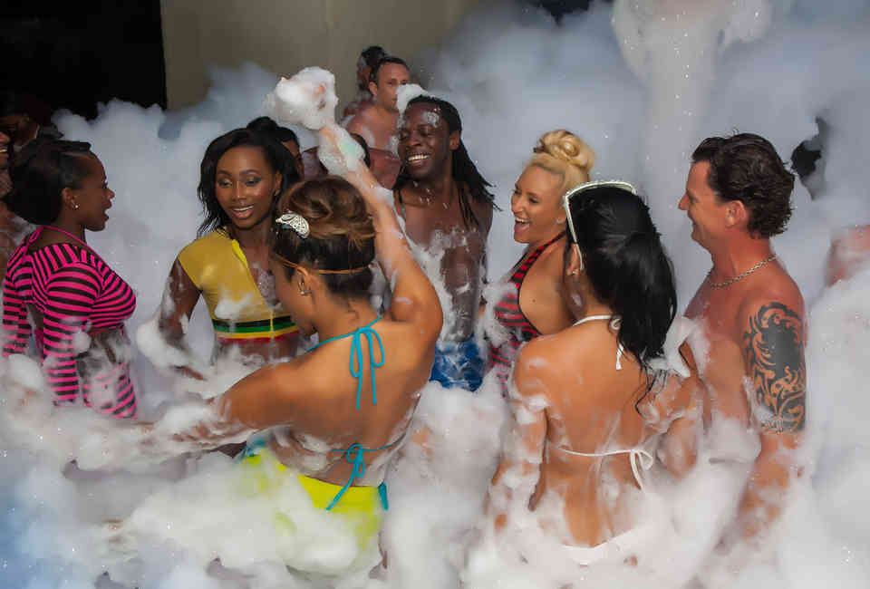 Nude swinger pool party