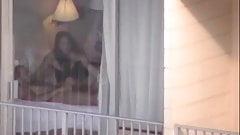 Caught hotel window naked man