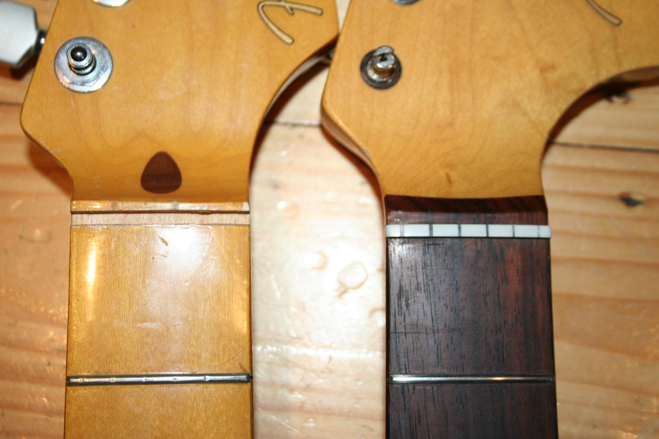 Fender guitar nut widths