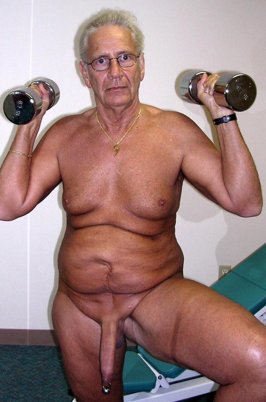 Naked black old men