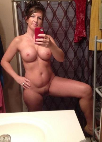 Mom self shot nude