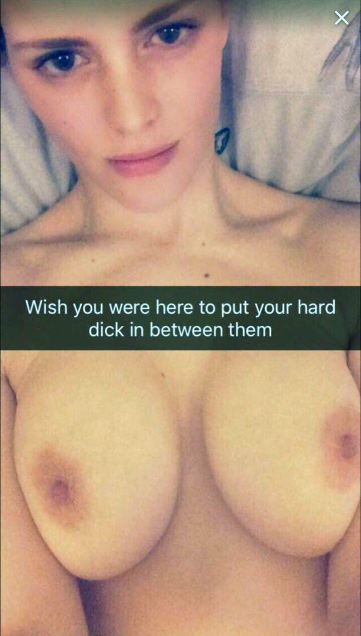Snapchat nudes with caption