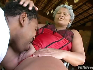Nasty black bbw cougar