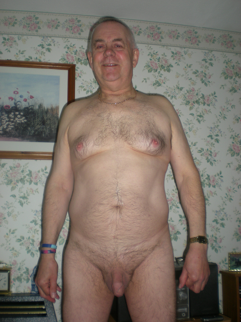 Picture of naked old man