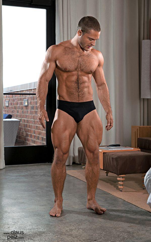 Hot hairy man legs