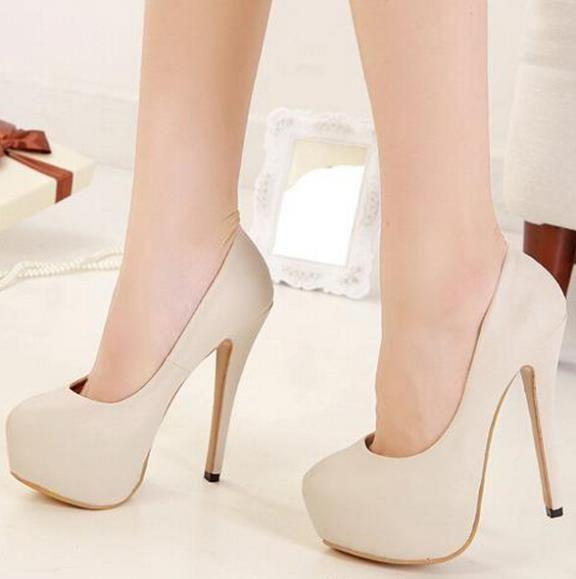 Group nude girls heels