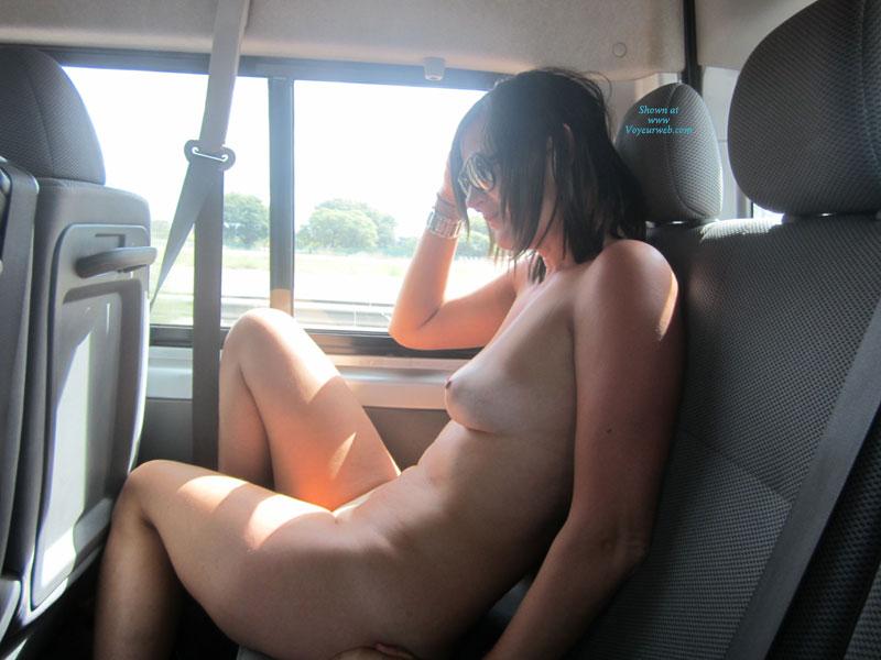 Naked girls back seat