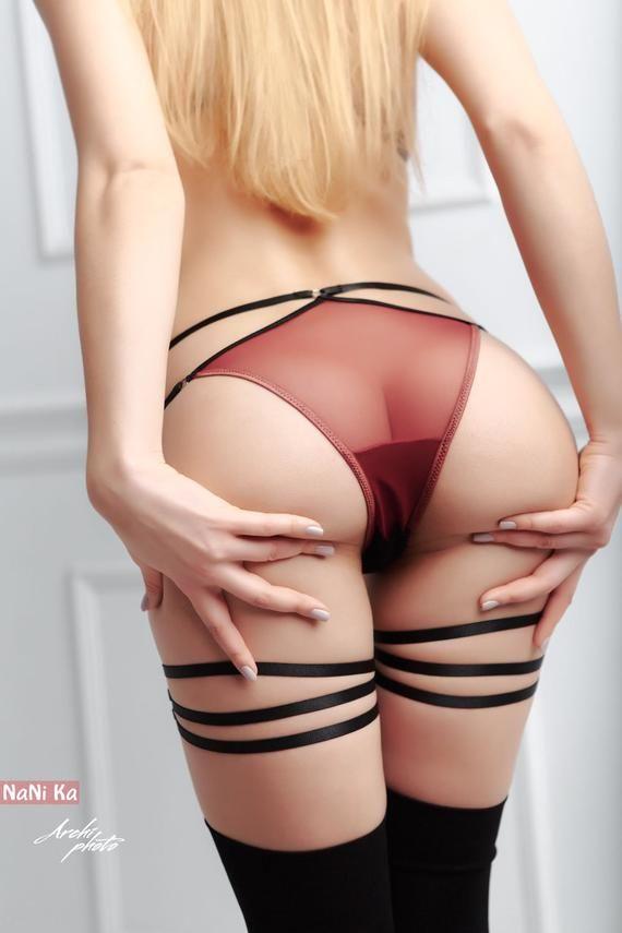 See through panties ass