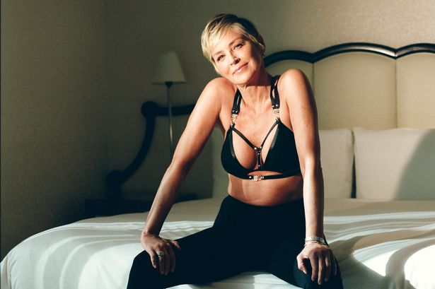 Sharon stone hot tub