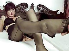 Nylon fetish video tube