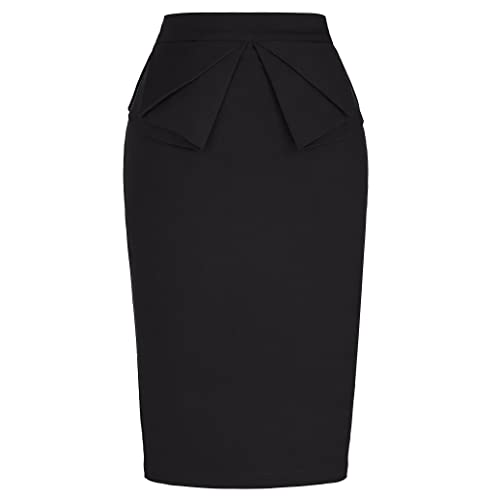 Black straight skirts for women