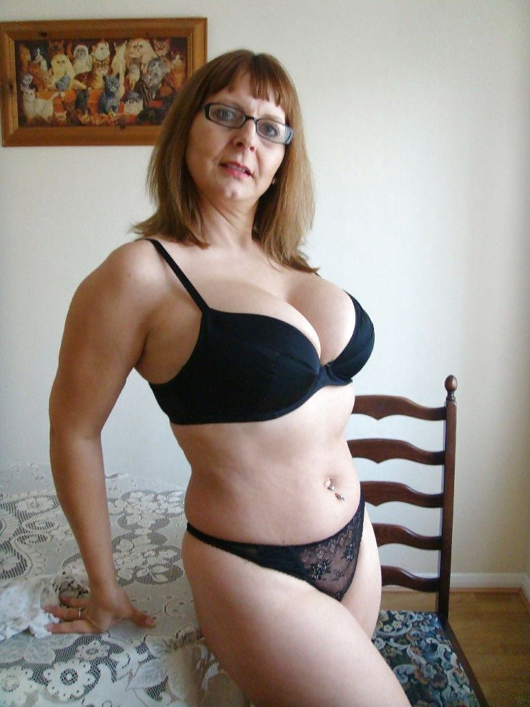 Mature women modeling panties