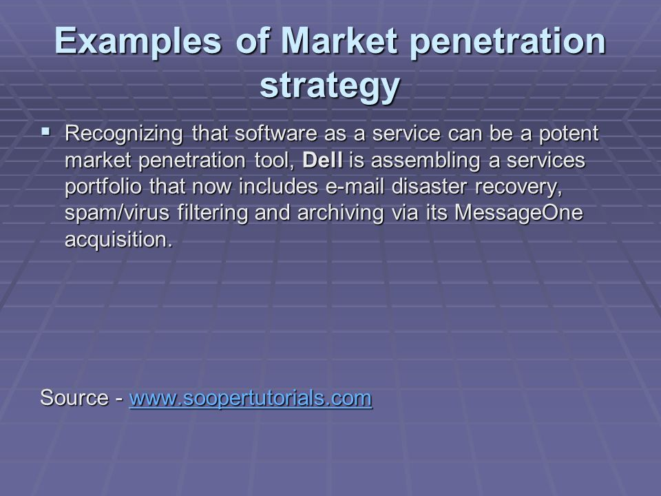 Market penetration strategy examples