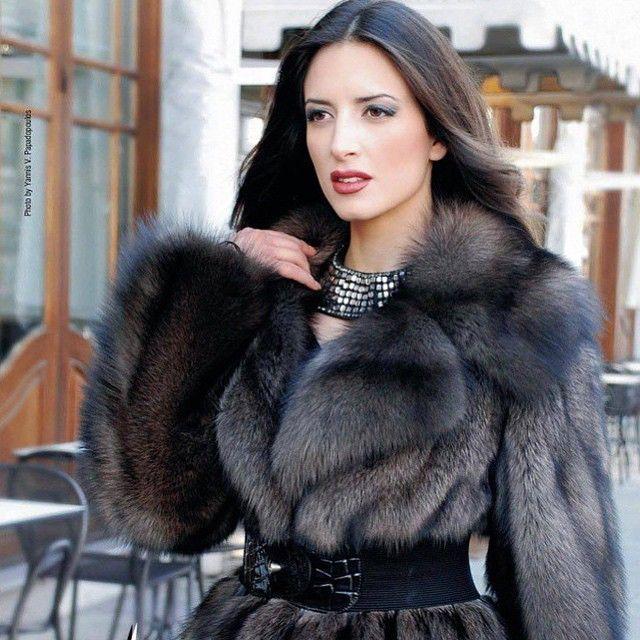 Russian women in fur coats