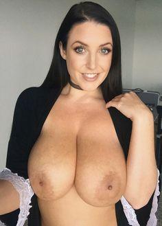Angela white topless selfie