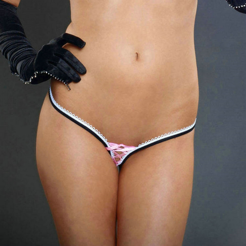 Thong g string crotchless panties