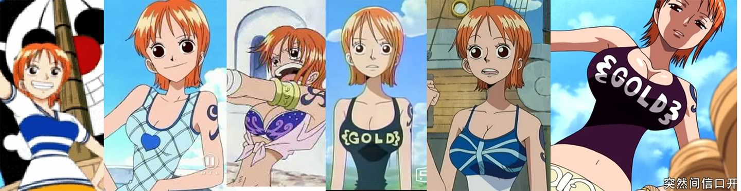 One piece nami boobs