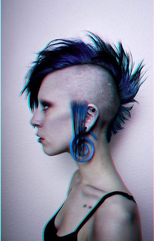 Pierced punk girl pixie