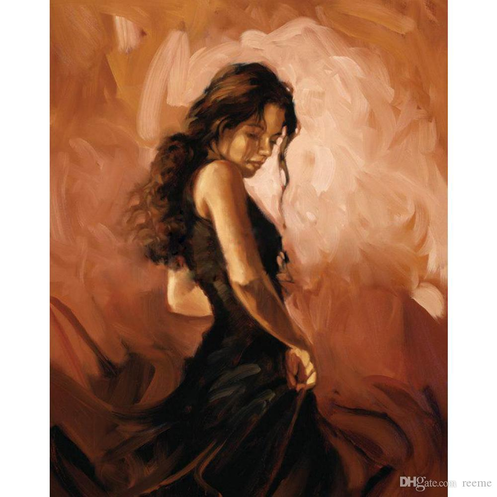 Beautiful woman oil painting