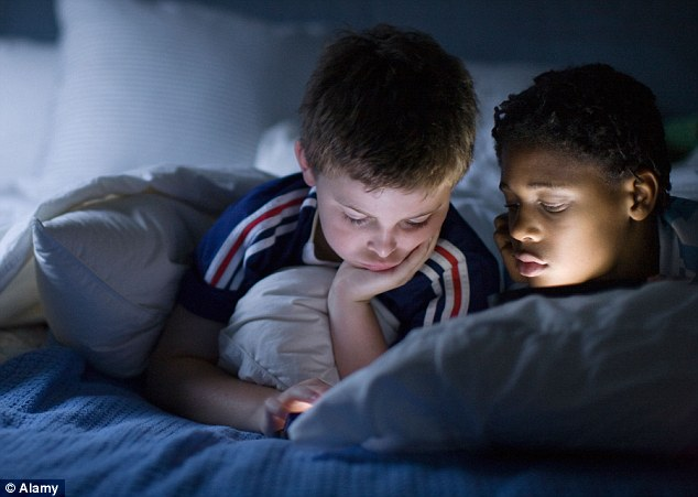 Young boys sleep over sex