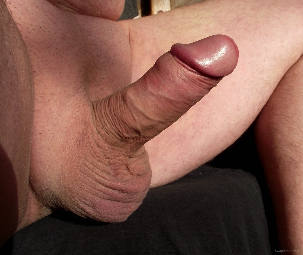 My shaved cock close up