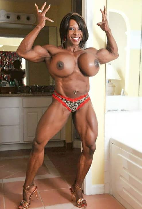 Strong black women big tits