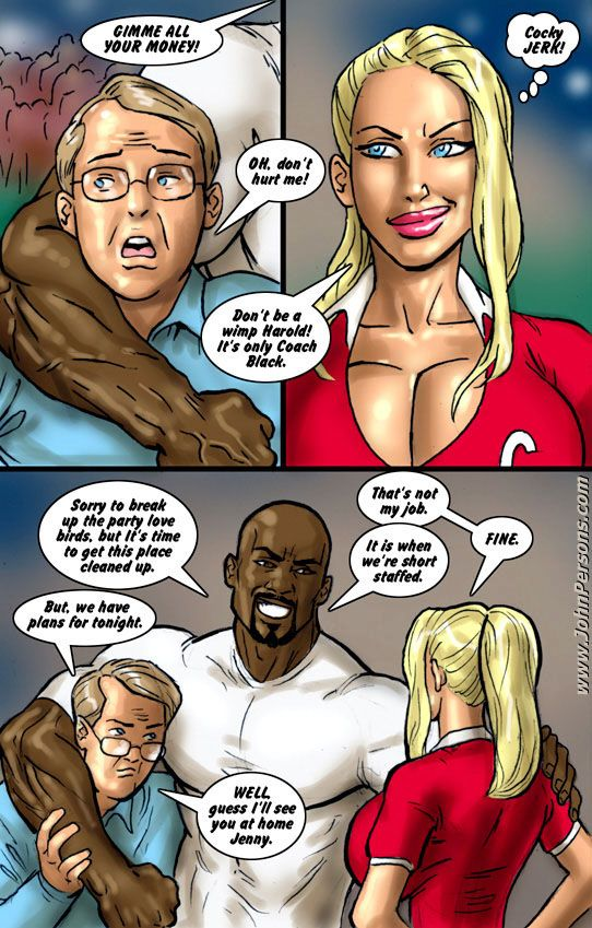 Interracial john person cheerleader cartoon porn