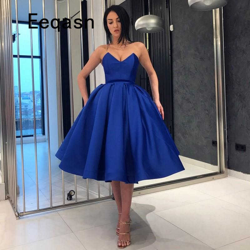 Sexy royal blue cocktail dress