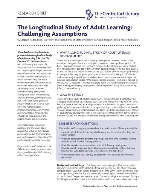 Adult learning system of oregon
