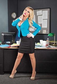 Nikki benz in the office