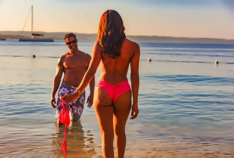 Candid nude beach friends