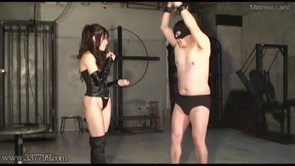 Japanese mistress whips slave