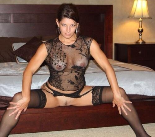 Sexy amateur milf stockings