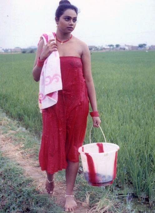 Aunty bath dress hot