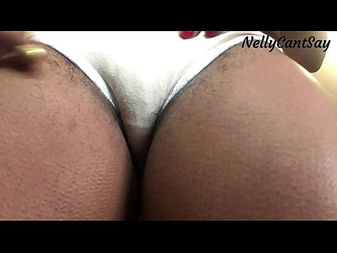 Ebony bigbooty in white sexy panties