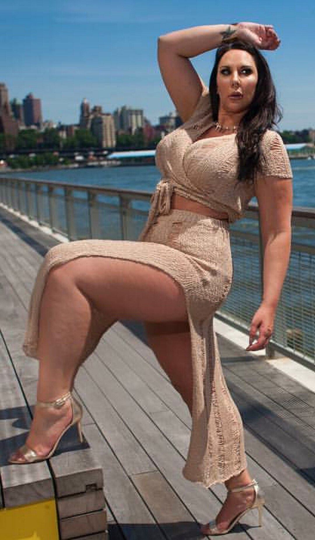 Mature with big sexy thighs