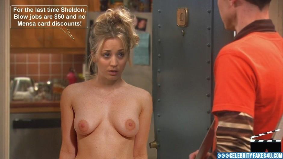Big bang kaley cuoco naked