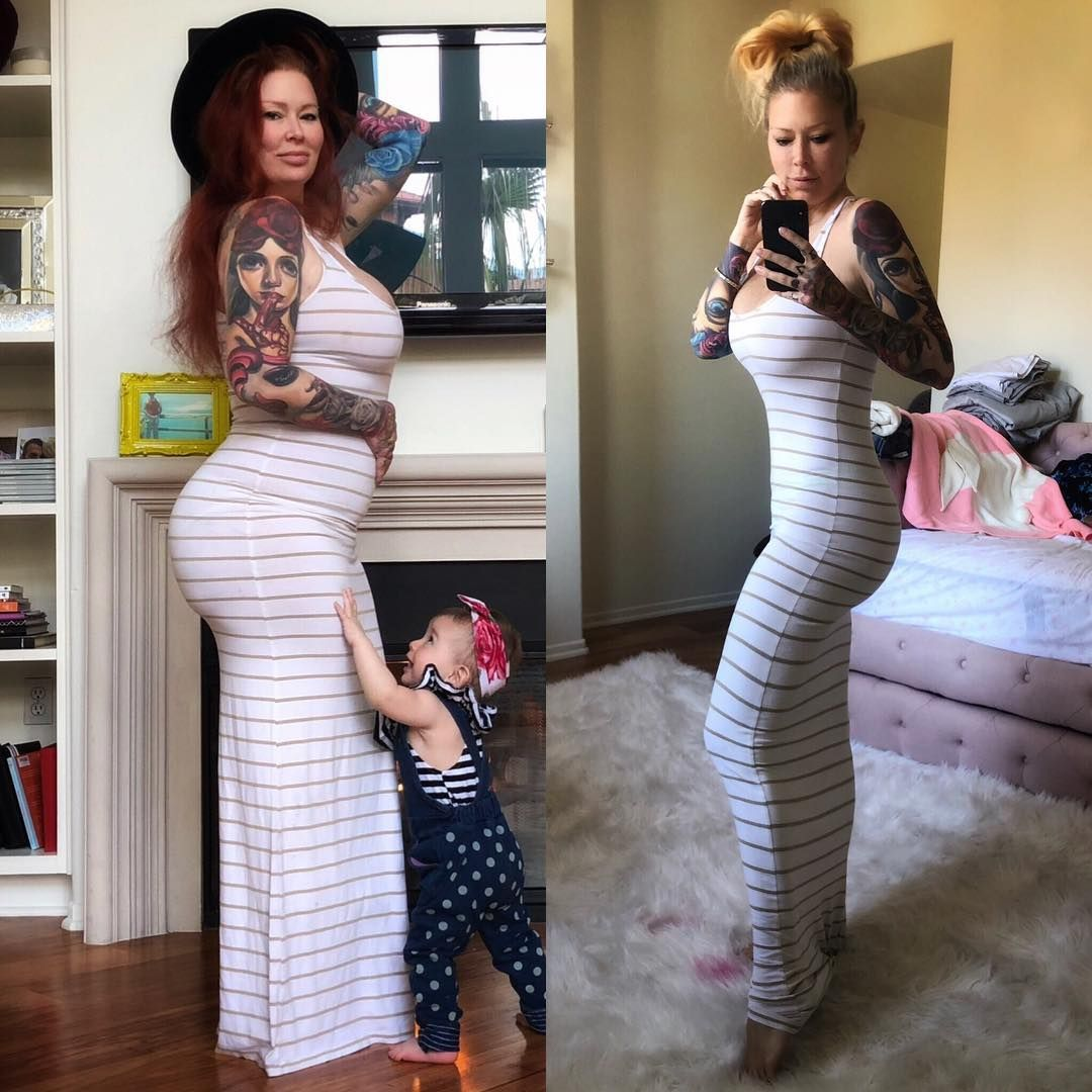 Jenna jameson pregnant belly
