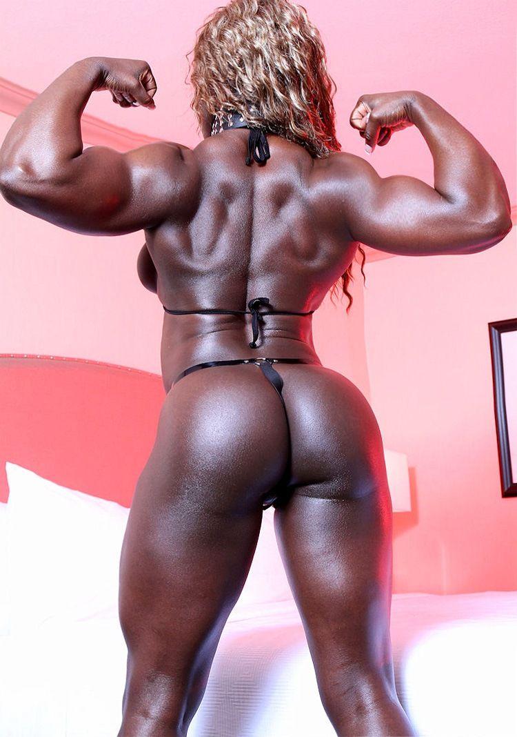 Black muscle nude buttocks