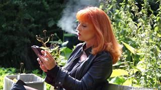 German mature woman smoking