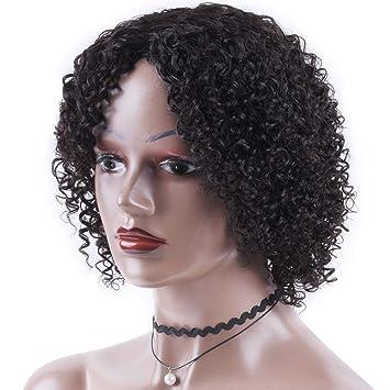 Short kinky curly human hair wig