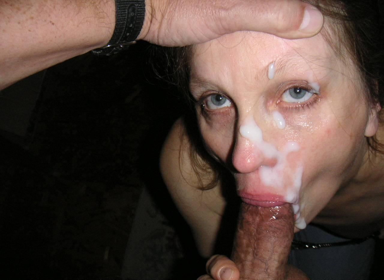 Amateur massive cum facials